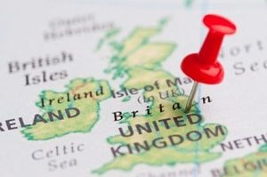 The Good Schools Guide | Map of the British Isles stuck with a drawing pin